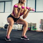Exercises for the buttocks with dumbbells