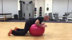 Hyperextension on fitball