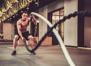 Training with ropes helps to be in good shape