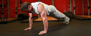 Pump shoulders with push-ups